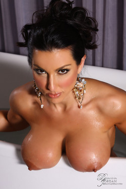 Brianna Jordan Soaks her Satin Slip and Big Boobs