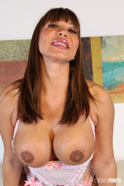 Ava Devine Latina MILF in White Stockings Flashes Huge Boobs