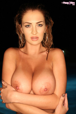 Ellis Attard Huge Breasts in a Tiny Bikini