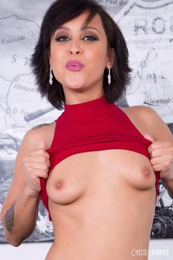 Mia Austin Perky Latina Babe Flashes Big Smile and Natural Breasts