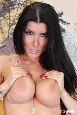Romi Rain Hot Brunette Pornstar Flaunts Big Boobs