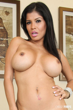 Alexis Amore Latina MILF Flashes Busty Curves