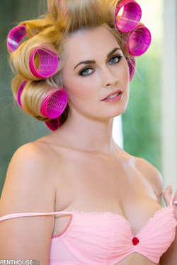 Bailey Rayne November Pet Is Even Hot and Sexy in Curlers