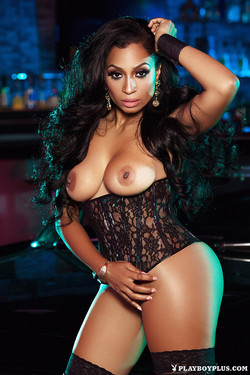 Karlie Redd Stunning Playboy Radio Host in Leather and Lace