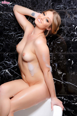 Veronica Weston February Treat Takes Sexy Bubble Bath