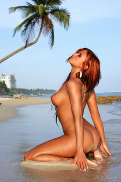 Ashley Bulgari Bikini Babe at the Beach