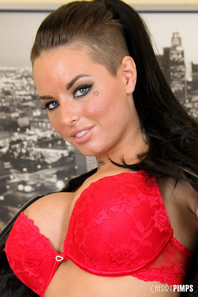 Natasha Starr Strips Off Her Red Bra and Panties