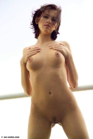 Eufrat Czech Milf Poses Bare Naked on a Balcony