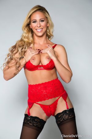 Cherie DeVille Strips in Lingerie and Stockings