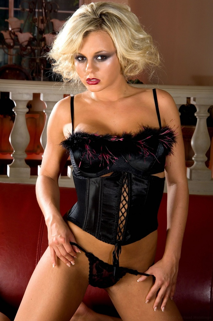 Bree Olson Wears Corset and Uses a Sex Toy