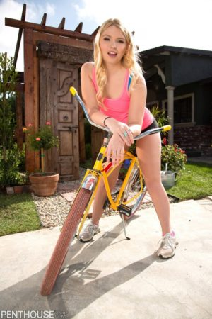 Melissa May Strips and Spreads on a Bicycle Ride