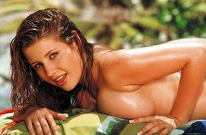 Erica Campbell Wet and Naked Poolside