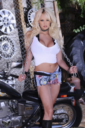 Stormy Daniels is a Biker Babe