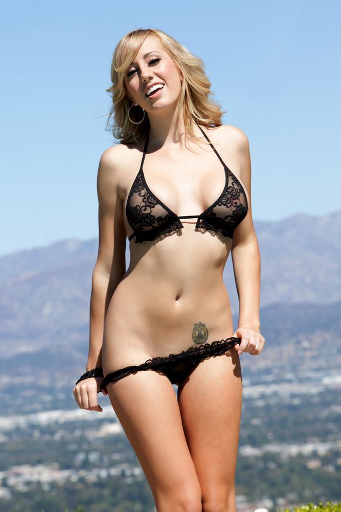 Brett Rossi Gives Sensual Striptease