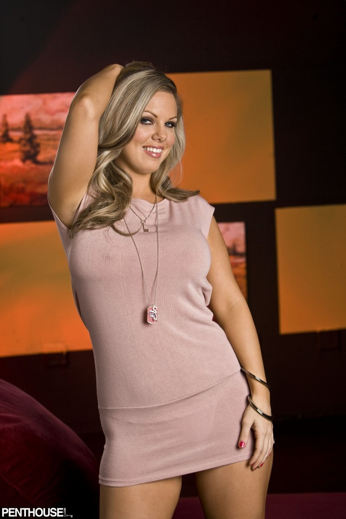 Jennifer Emerson Pink Dress Tease