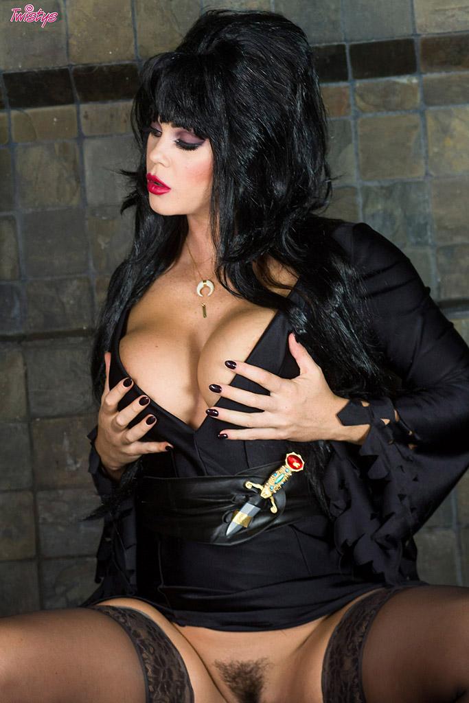 Lisa Ann Pink Lingerie Black Stockings