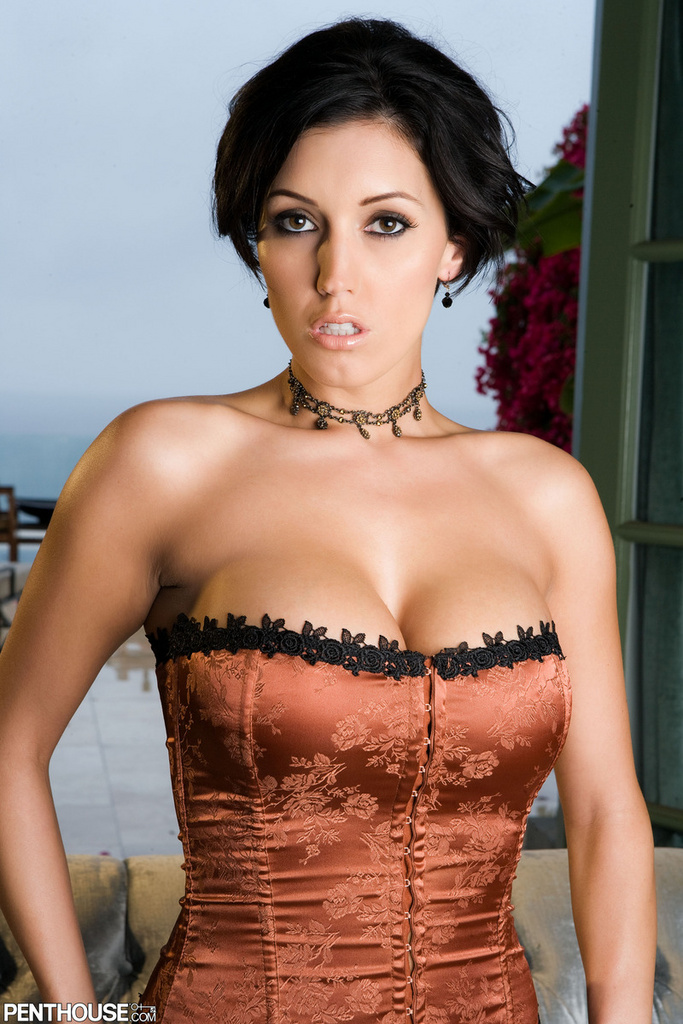 Dylan Ryder Busts Out Of A Tight Corset