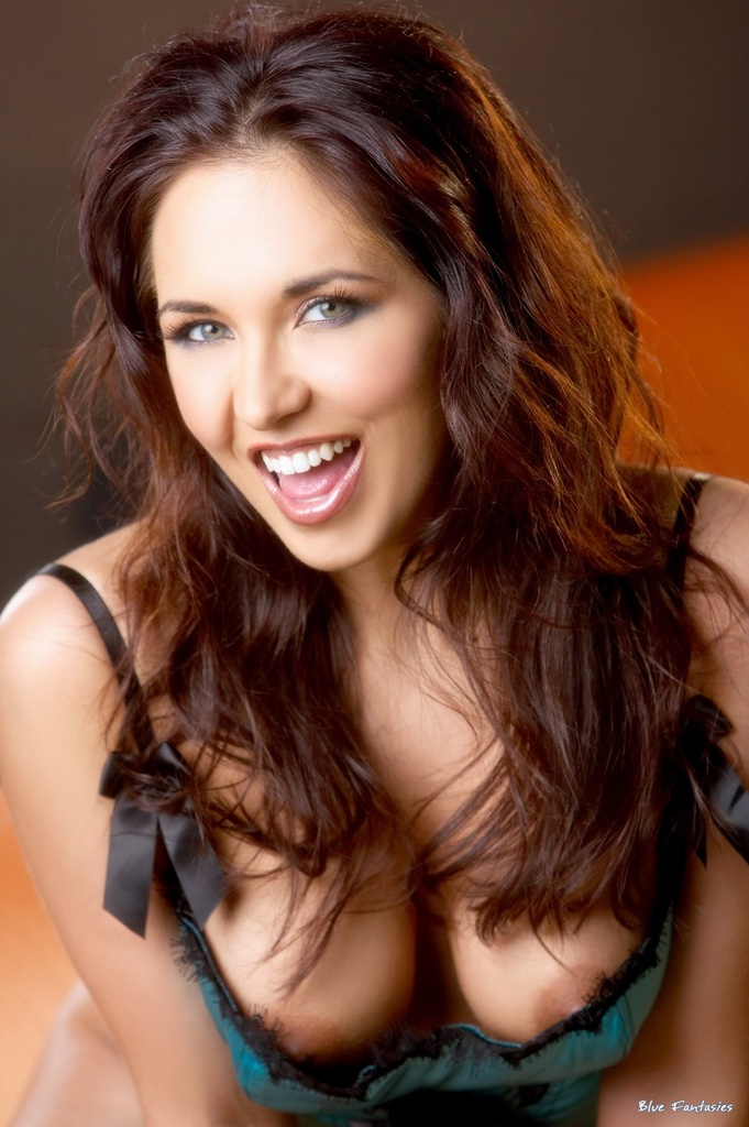 Zoe Britton Spreads Pussy In Satin Lingerie