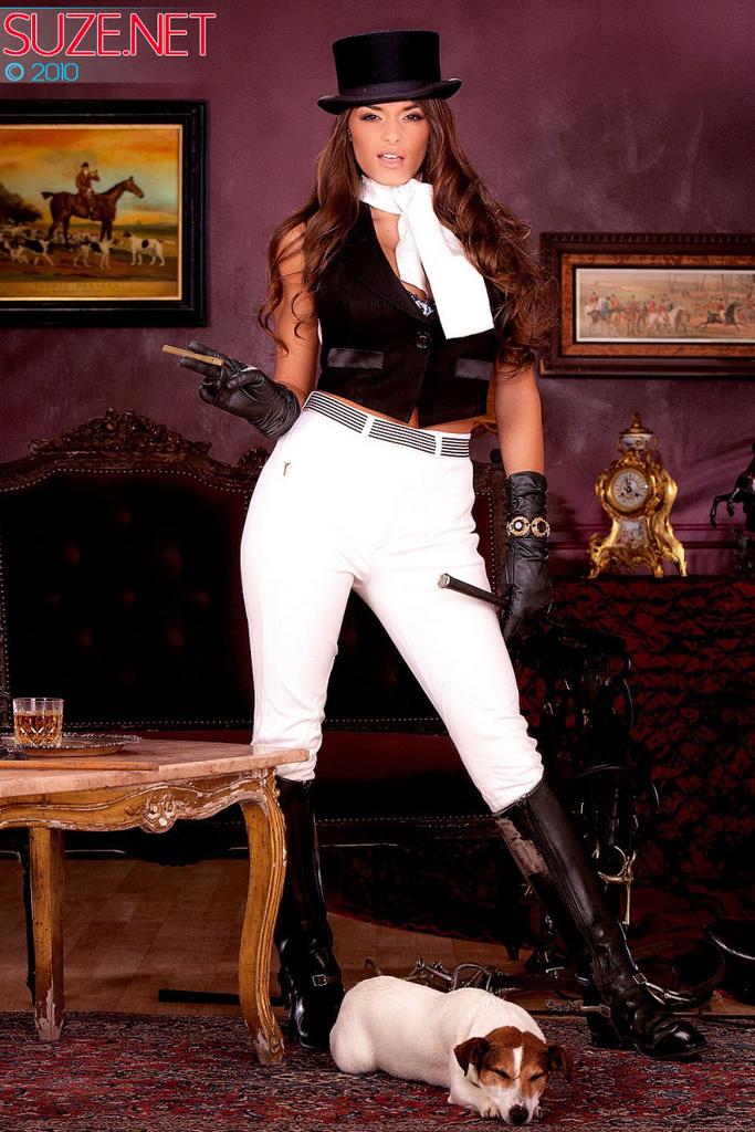 Madelyn Marie as a Sexy Jockey