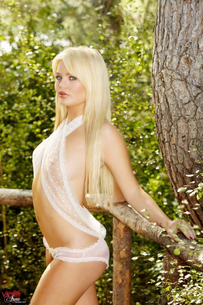 Alexis Ford Lingerie and Dildo Outdoors