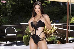 Sunny Leone Strips Sling Bikini