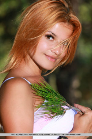 Violla A Beautiful Naked Redhead in the Woods