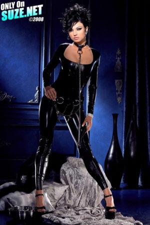 Ava Rose Skin Tight Latex Suit