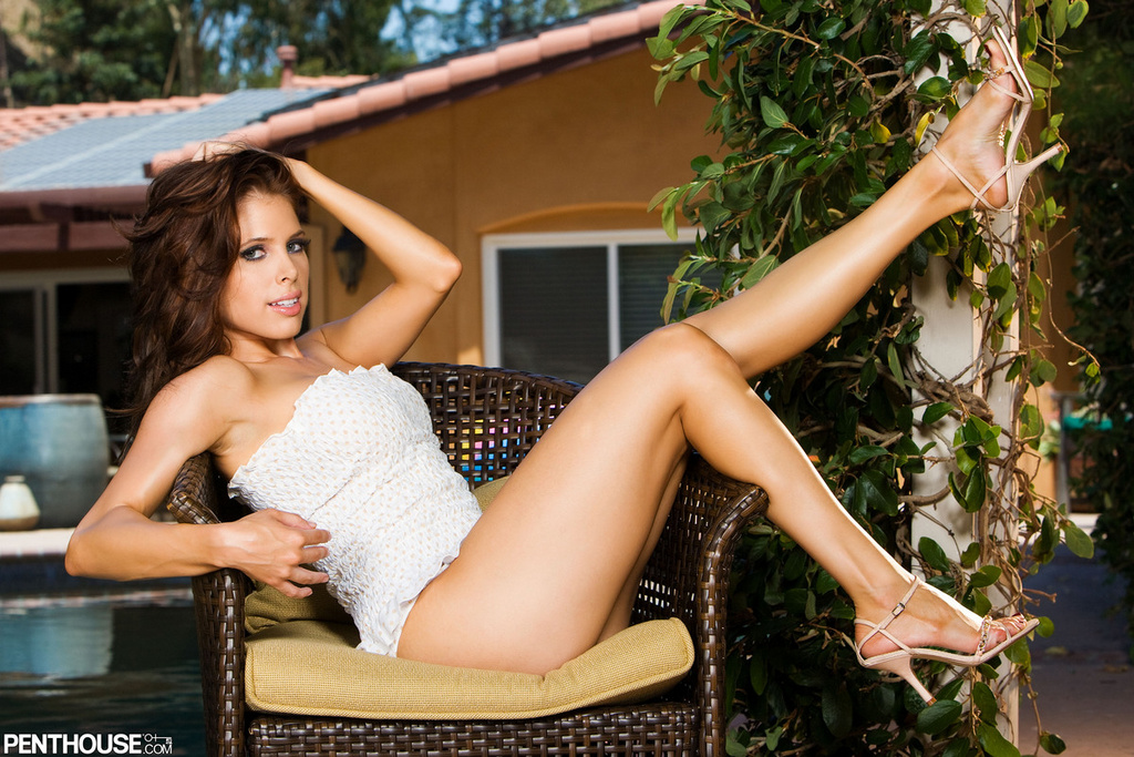 Erika Jordan Pleases in White