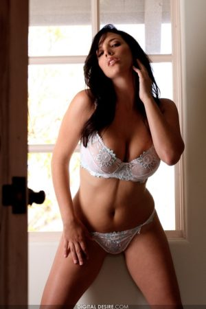 Busty Jelena Jensen Plays With Her Pussy