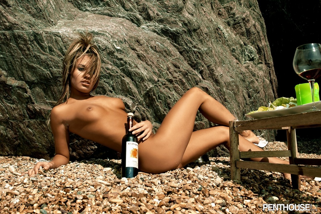 Veronika Fasterova Gets Frisky with Wine