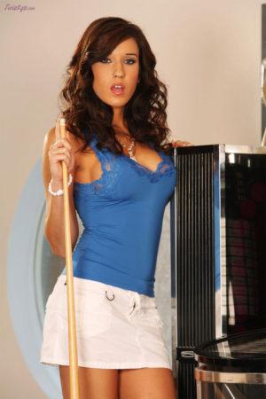 Erin Avery Strips Off Her Little White Skirt