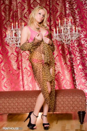 Angie Savage Pink Lace Bra and Panties