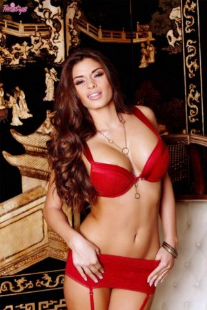 Madelyn Marie Stuns in Red Lingerie