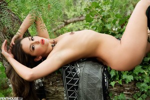 Allie Haze Strips Naked in a Boots and Climbs a Tree
