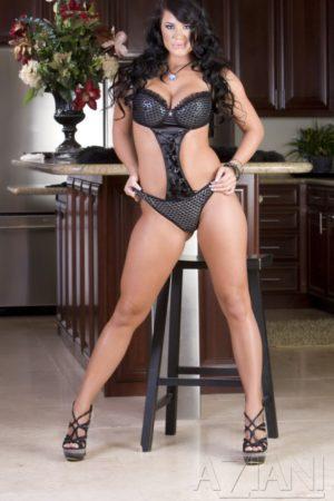 Savannah Stern Gives Kitchen Striptease