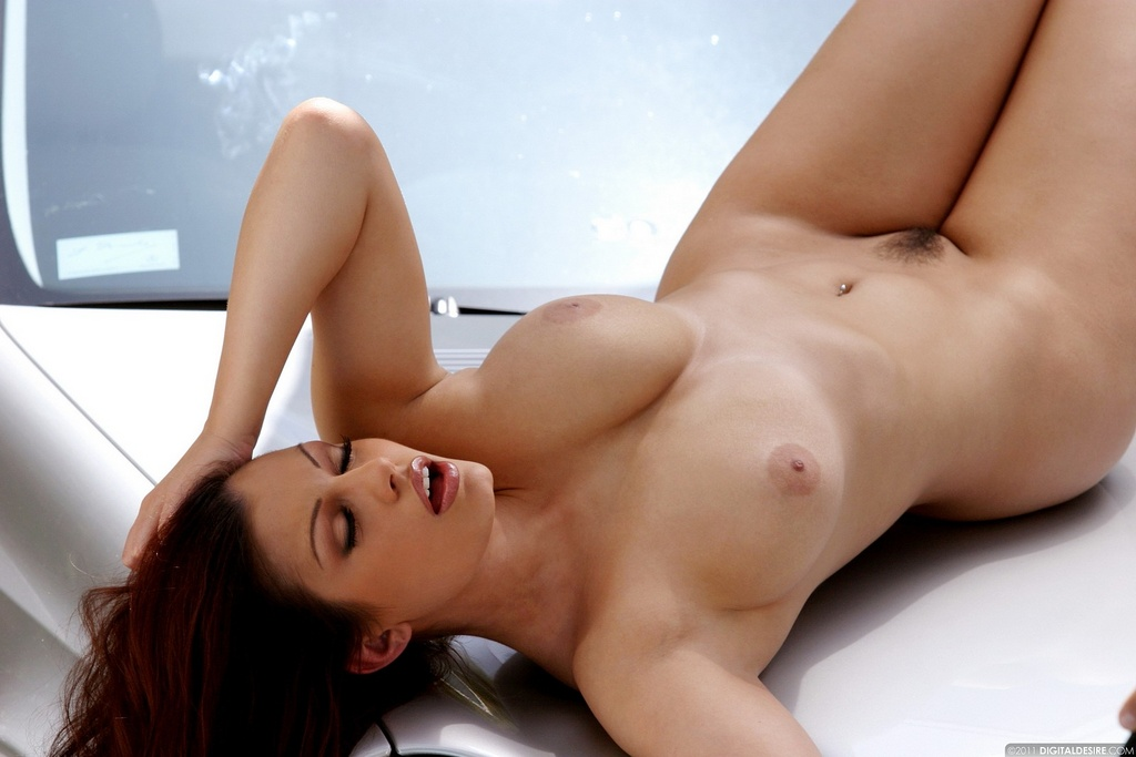 Naked Aria Giovanni Is One Hot Hood Ornament