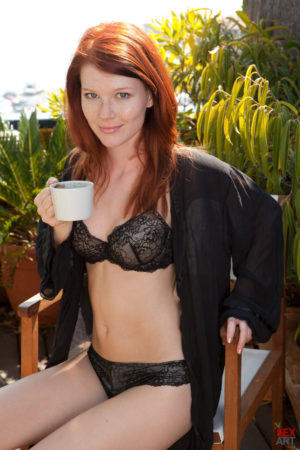 Mia Sollis Fingers Herself Outside