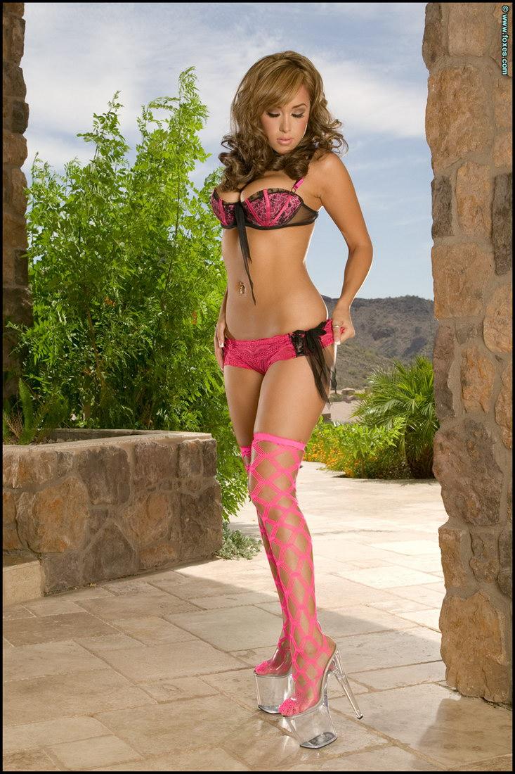 Mya Dillon Pink Net Stockings