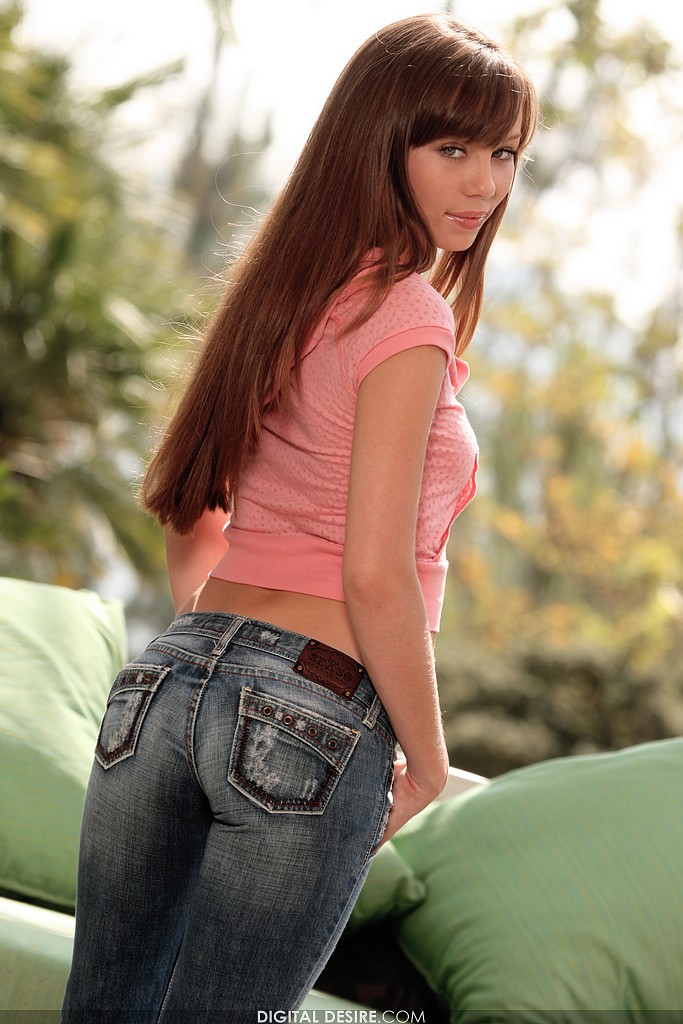 Capri Anderson Takes Off Her Jeans and Panties