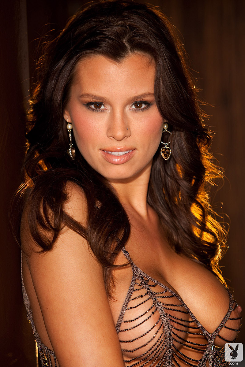 Christina Renee Sexy Tanned Brunette Models Skimpy Lingerie