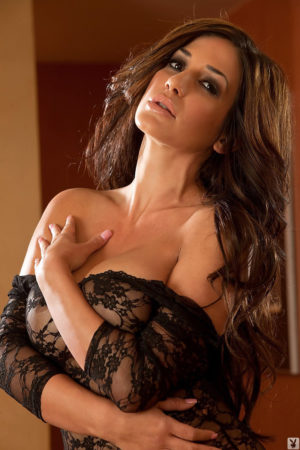 Natalina Marie Italian Glamour Model in Black Lace
