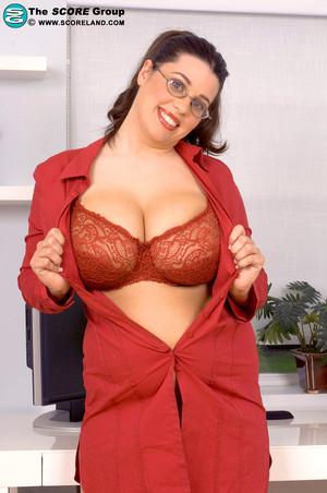 Dallas Dixon Big Brunette Secretary Shed her Lingerie