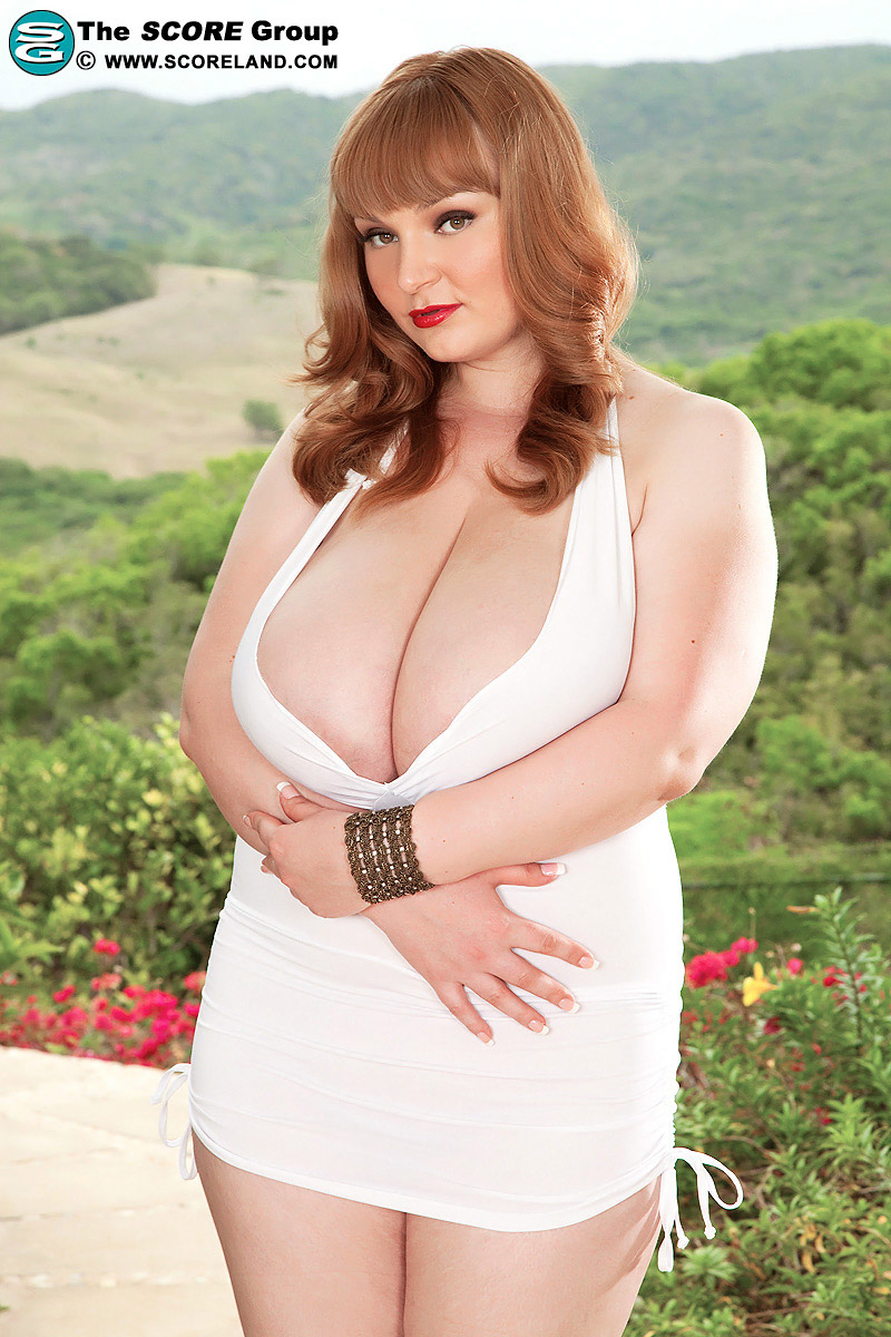 Micky Bells Plus Sized Redhead Lowers White Lingerie