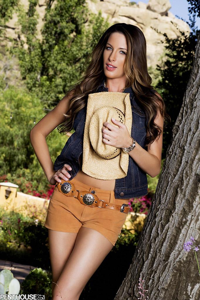 Kortney Kane Busty Brunette in a Cowgirl Hat