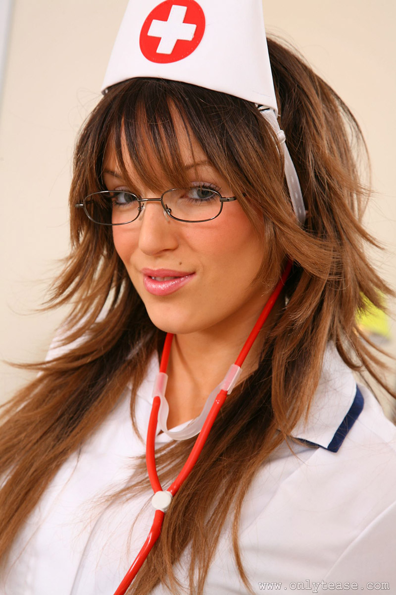 Ashlea Massey Saucy British Nurse Sexy in Pantyhouse