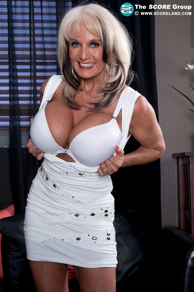 Sally D'Angelo Big Boob Mature Blonde Bares Amazing Rack