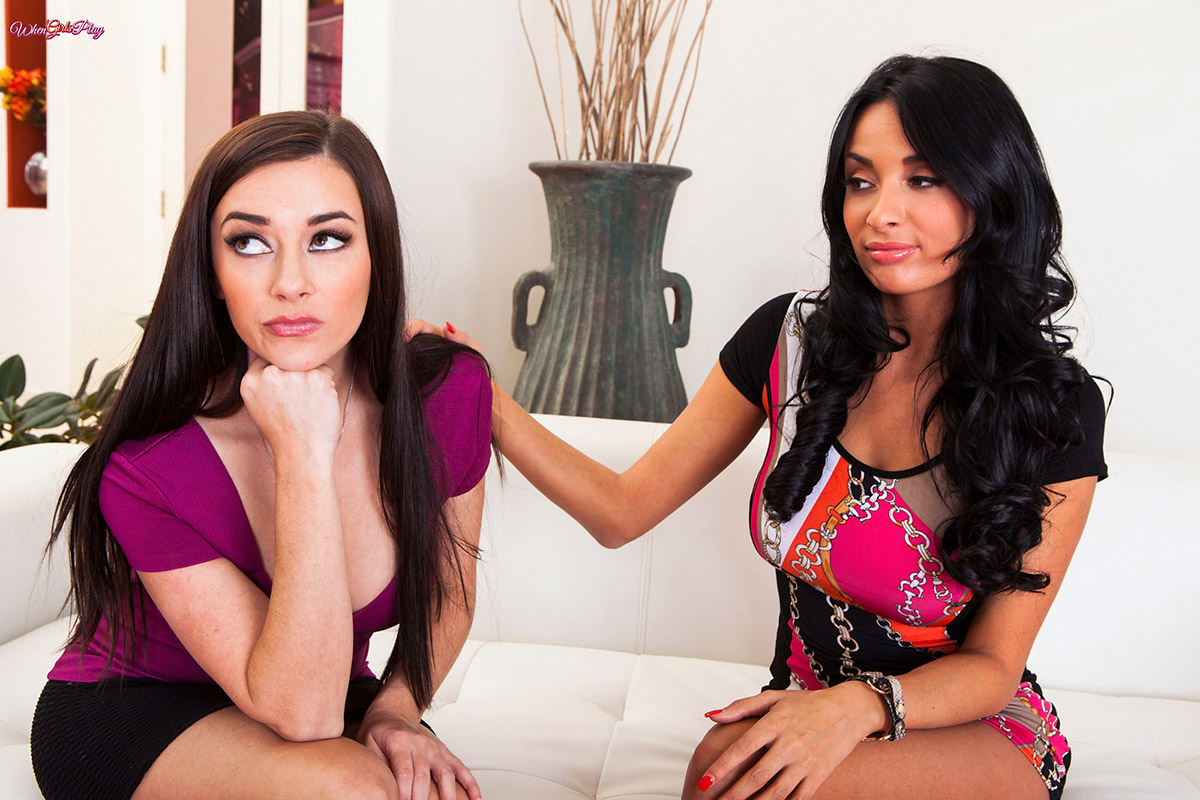 Anissa Kate Seduces Busty Brunette Gal-Pal Taylor Vixen