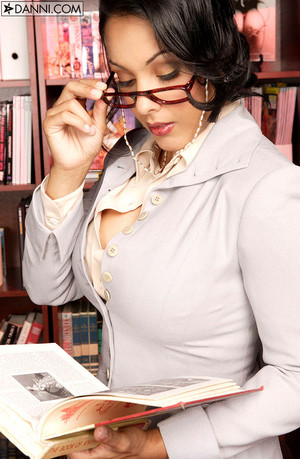 Nina Mercedez Busty Latina Lawyer Bares Boobs in Library