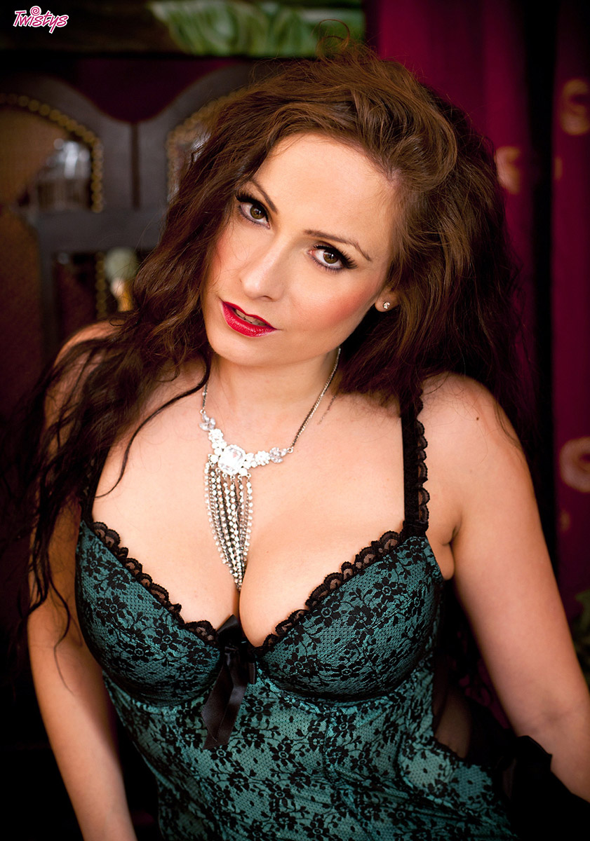 Sophia Delane Sultry British Brunette in Black Stockings