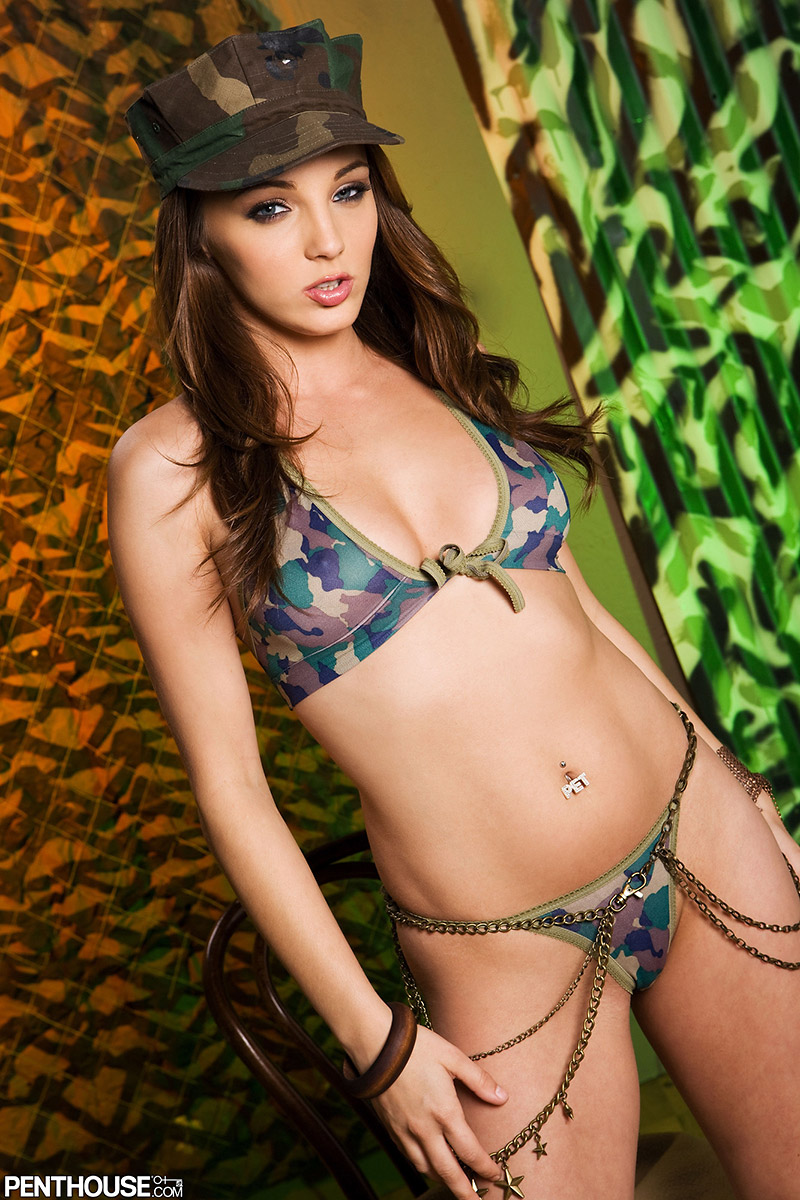 Charlie Laine Can't Hide Sexy Bod in Camouflage Bikini